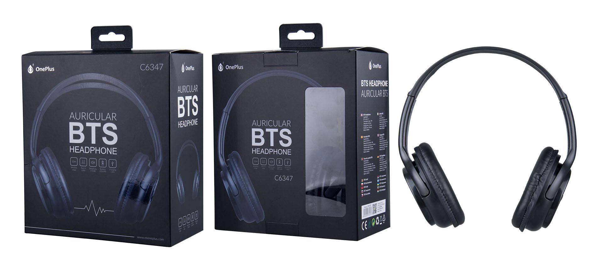 Auriculares Bluetooth Mars, BTS/Audio Negro C6347