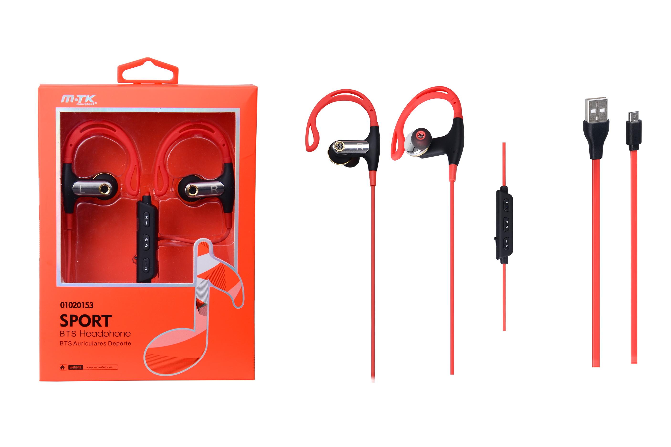 Auriculares Sport Ironman Bluetooth con Micro Rojo